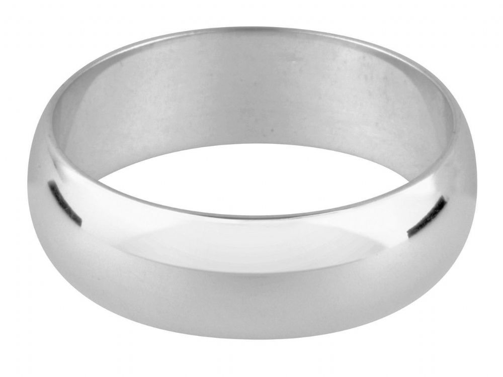5mm D Shape Plain Wedding Ring / Thumb ring Band Handmade Sterling silver solid